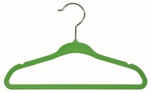 VELVET kpl2 flokowych wieszaków do ubrań dziecięcych 28cm, green