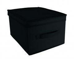 COMFORT pudełko z pokrywą 28x36x20cm black