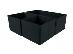 COMFORT Zestaw 3 organizerów do szuflad black
