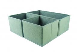 COMFORT zestaw 3 organizerów do szuflad grey