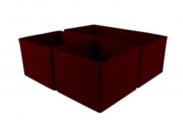 COMFORT zestaw 3 organizerów do szuflad red
