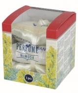 PERFUME Zestaw 3 miękkich pachnących poduszeczek, golden mimosa
