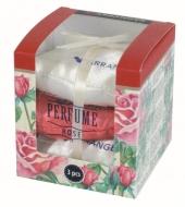 PERFUME Zestaw 3 miękkich pachnących poduszeczek, rose